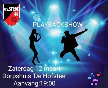 Save the date! Playbackshow 12 maart